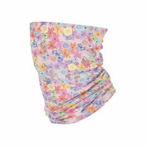 Flower Neck Gaiter fits Kids, Youth and Petite - My E Three