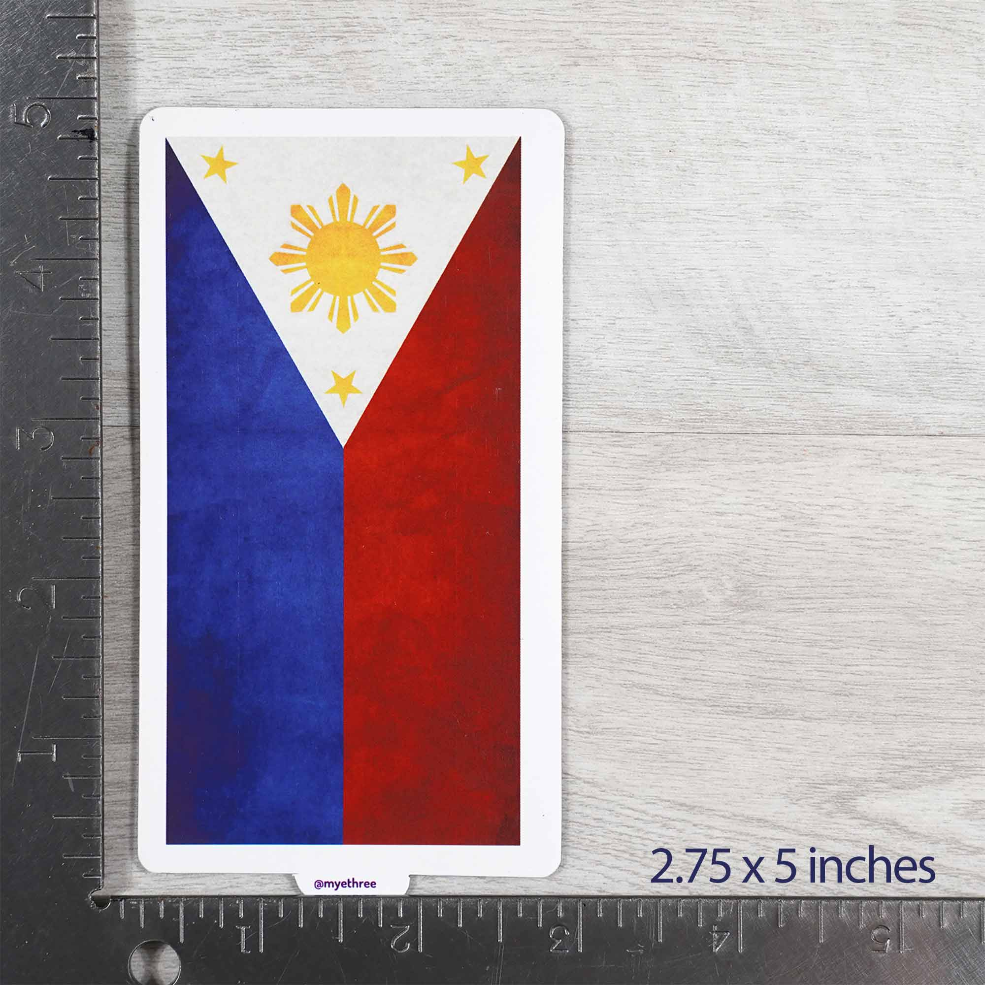 Vintage Philippines Flag Sticker or Magnet - My E Three