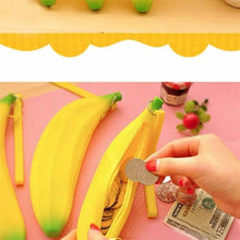 Load image into Gallery viewer, Lovely Silicone Banana Tie Zipper Coin Purses Multifunctio Wallets Famous Brand Women Wallet Billeteras Para Mujer Carteira