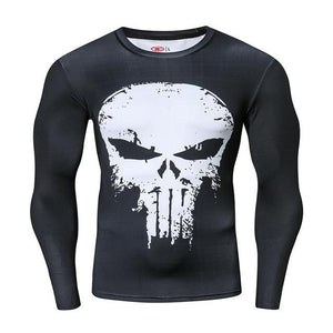 Compression Shirt Workout Training Fitness Men Cosplay Rashgard Plus Size Bodybuilding T shirt 3D Printed Superman Tops For Male