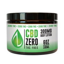 Load image into Gallery viewer, CBD Zero Body Lotion 300mg