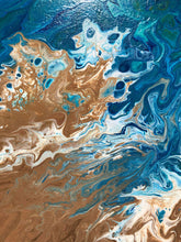 Load image into Gallery viewer, Ocean and Sand Dancing Together.
