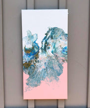 Load image into Gallery viewer, Pink, Yellow, Baby Blue Pastel Colours - Set of 3 Paintings.