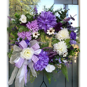 Purple Fall Summer Wreath.