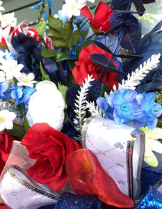 Red, Blue & White Wreath
