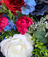 Load image into Gallery viewer, Red, Blue & White Wreath