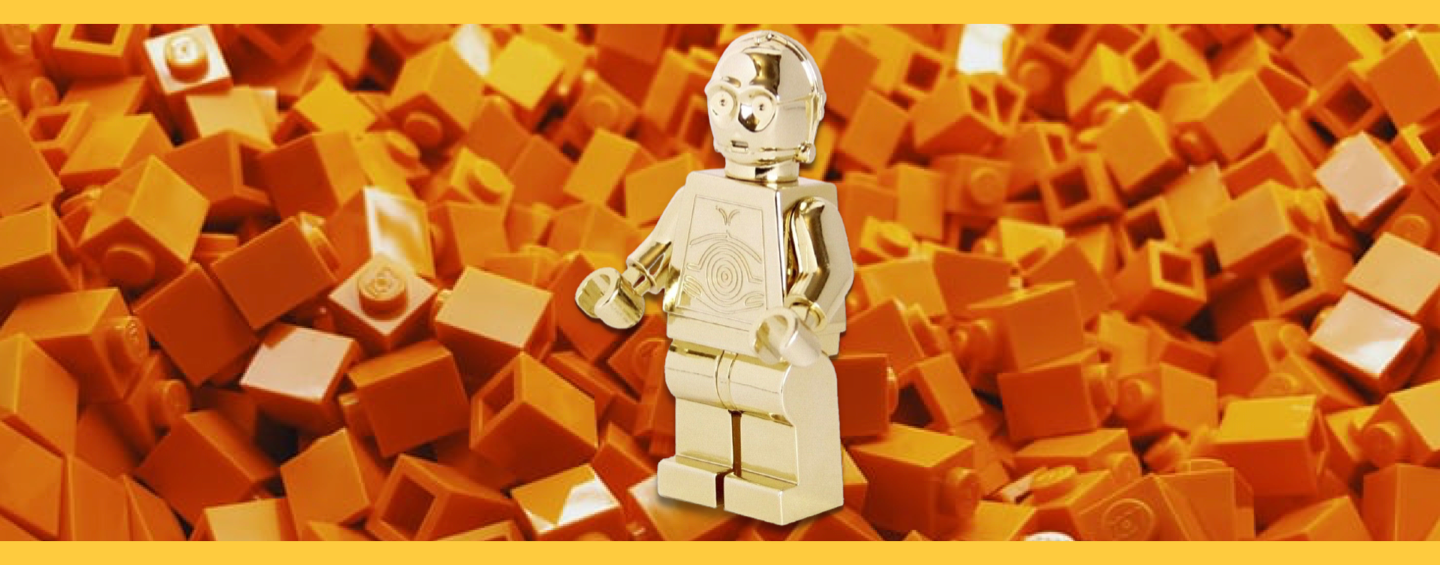 14K Gold C3PO Minifigure