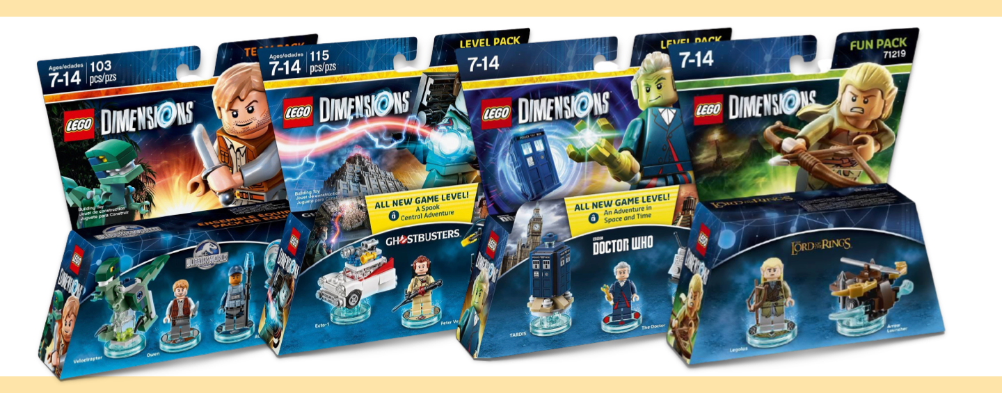 LEGO Dimensions - Packs Jurassic World / Ghosbusters / Le Seigneur des Anneaux / Doctor Who