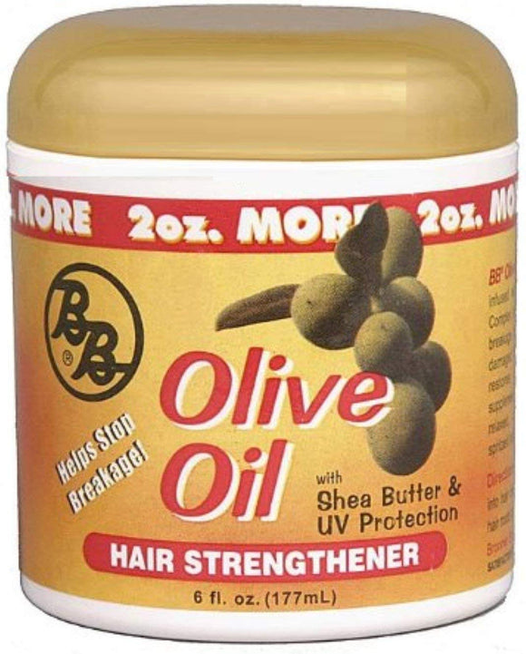 BB Olive Oil with Shea Butter & UV Protection Hair Strengthener 6oz