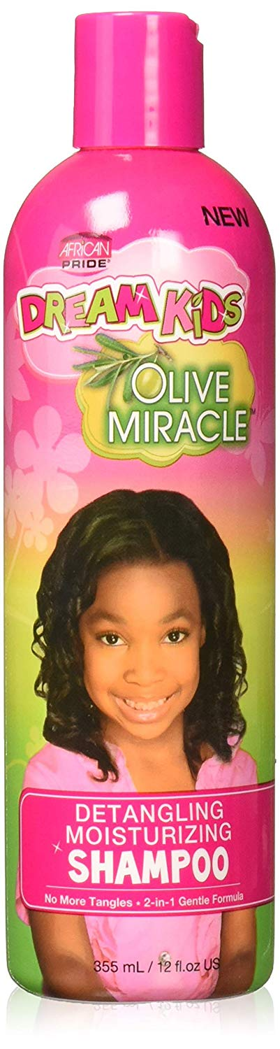 African Pride Dream Kids Miracle Detangling Moisturizing Shampoo 12 oz