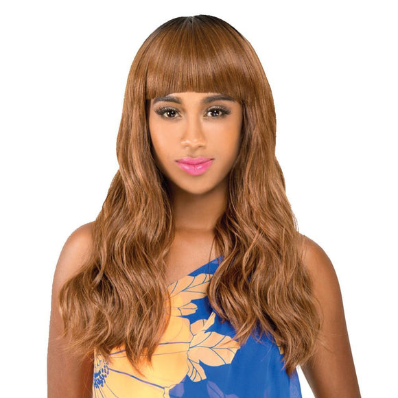R&B Got Wig? Silky Cap Human Hair Blend Gem Wig