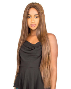 R&B Human Hair Blend Lace Frontal Closure XR-RJ Wig