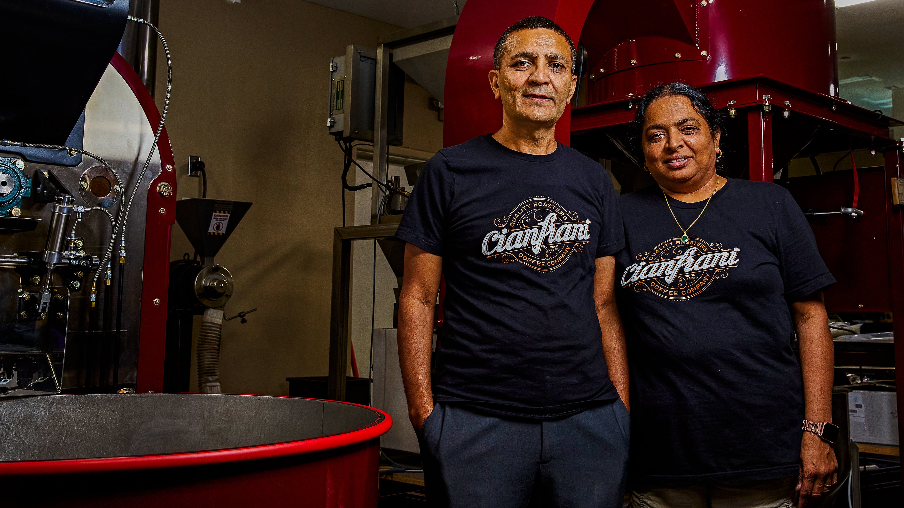 Princy & Mukesh Patel, Cianfrani Coffee Roasters in Austin, Texas