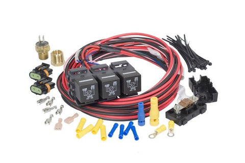 30116 Dual Fan-Dual Activation Fan Relay Kit (195 degrees F On/185 degrees F Off)
