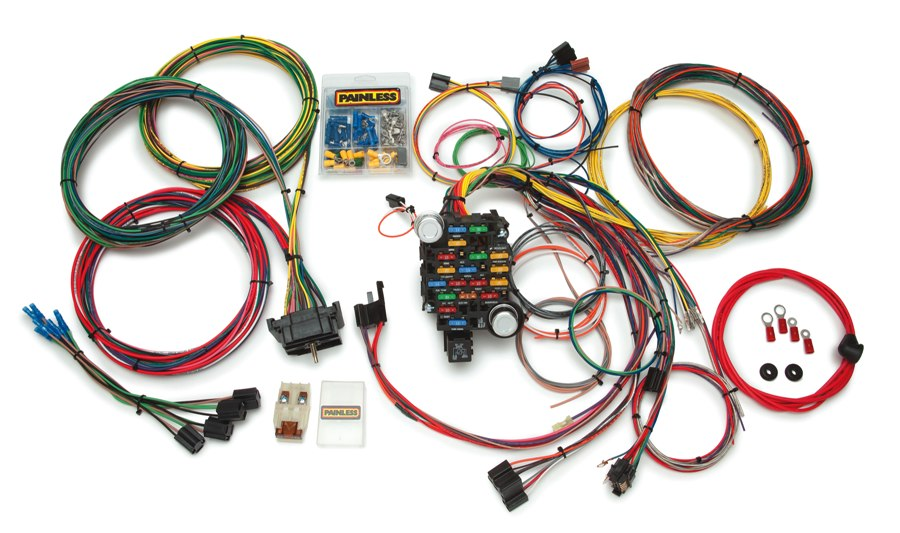 10206 28 Circuit GM Truck Chis Wiring Harness 1967 - 1972 on universal hot rod wiring harness, 1997 f250 motor wiring harness, drag race wiring harness,