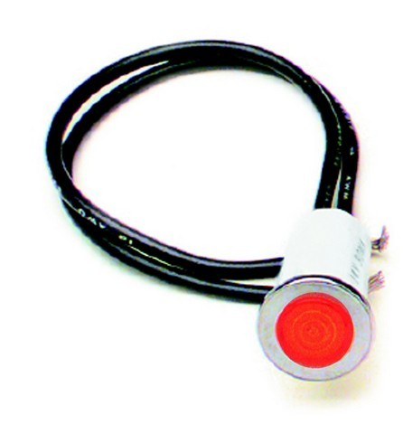 "80209 1/2"" Dash Indicator Light/Red"