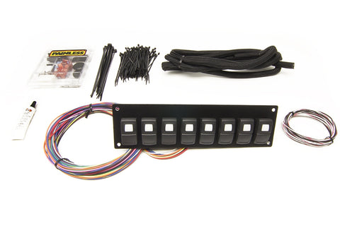 58101 Track Rocker 8 Switch Panel, in Dash Mount
