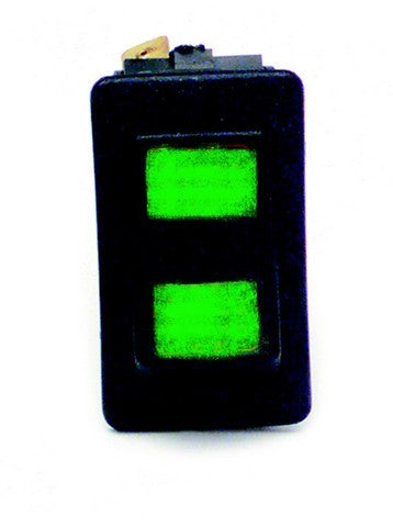 80402 Rocker Switch / On-Off-Momentary On / Green Lighted