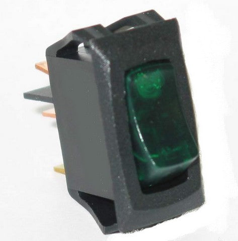 80413 Small Rocker Switch (On/Off, Green Lighted)
