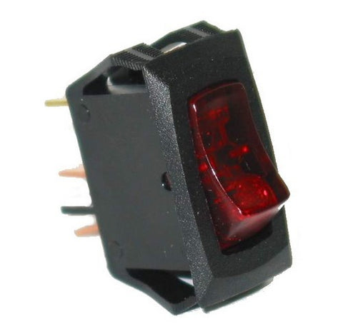 80415 Small Rocker Switch (On/Off, Red Lighted)