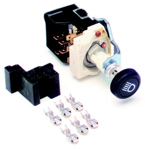80152 Headlight Switch/Black Knob/GM Style w/Dimmer & Dome Light