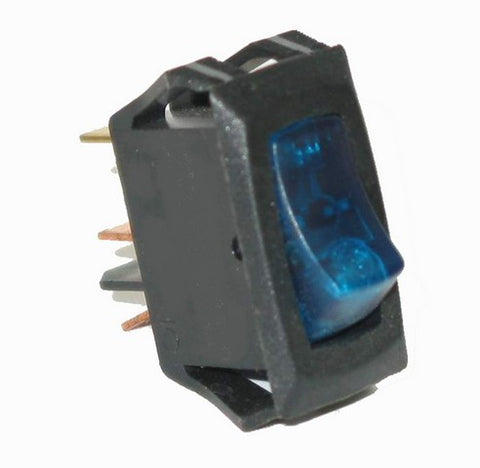 80412 Small Rocker Switch (On/Off, Blue Lighted)