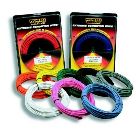 71816 14 Gauge Black TXL Wire w/White Stripe (25')