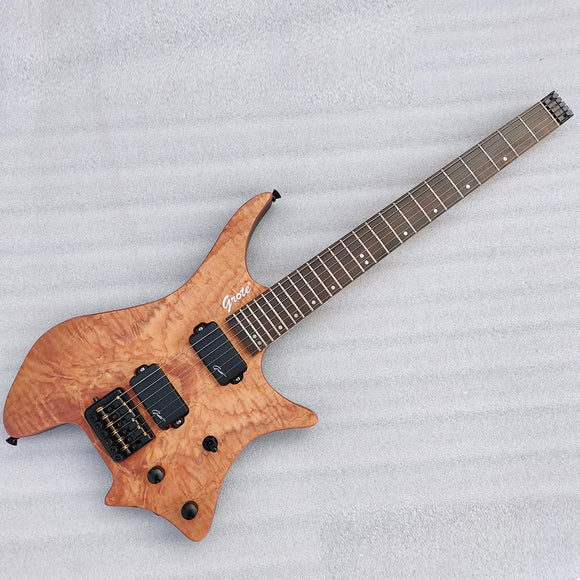 Grote Headless Electric Guitar Professional Guitar Natural GRWB-WTNA