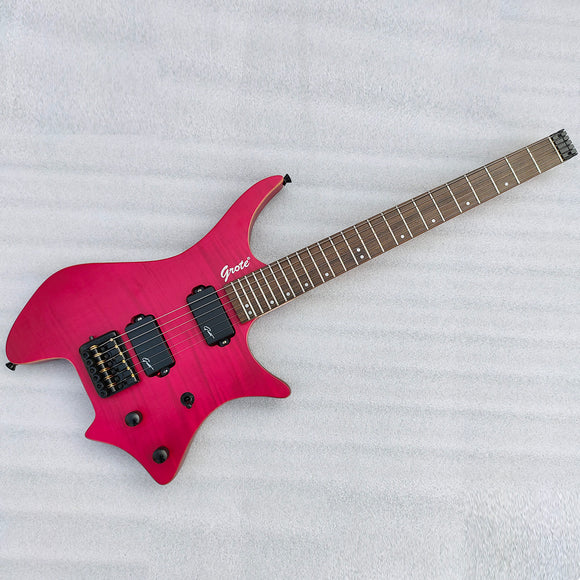 Grote Headless Electric Guitar Professional Guitar Red GRWB-WTRD