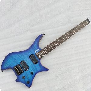 Grote Headless Electric Guitar Professional Guitar Blue GRWB-WTBL
