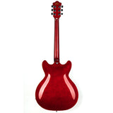 GROTE SEMI-HOLLOW BODY ELECTRIC GUITAR CHERRY RED DR335-001