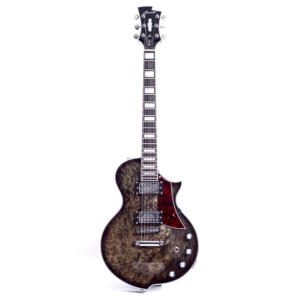 GROTE Black LP Style Solid Body Electric Guitar LP-001