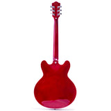 GROTE Semi-Hollow Body Left-Handed Electric Guitar Cherry red DR335-001
