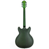 GROTE Electric Guitar Semi-Hollow Body Guitar matte finished P90 Pickups (Green)
