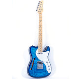 GROTE Telecaster style Semi-Hollow Body Electric Guitar GRWB-F-TLBL