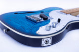 GROTE Telecaster style Semi-Hollow Body Electric Guitar XKTL-BU01