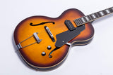 GROTE Vintage Sunburst Hollow Body Jazz Electric Guitar ZTVS-001