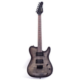 Grote Tele Set-in Electric Guitar Solid Body Flame top (black)