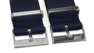 Dark blue nato strap by Phenomenato - buckle