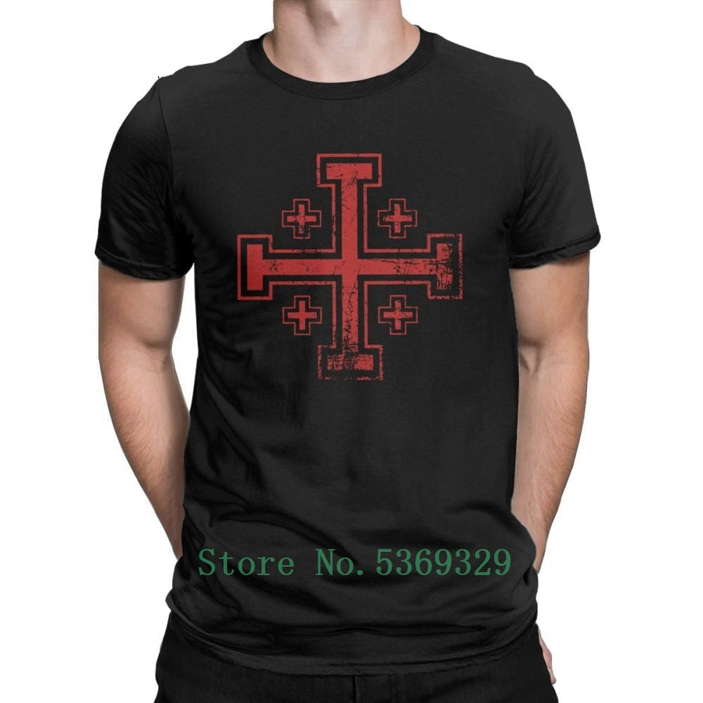 "The Distressed Jerusalem Cross"" T-Shirt"