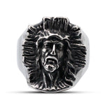 The Crucified Face of Christ Ring
