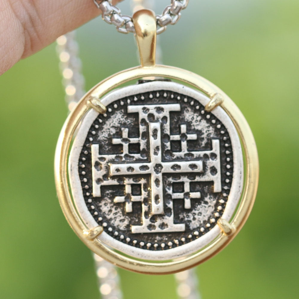 The Jerusalem Cross Pendant Necklace