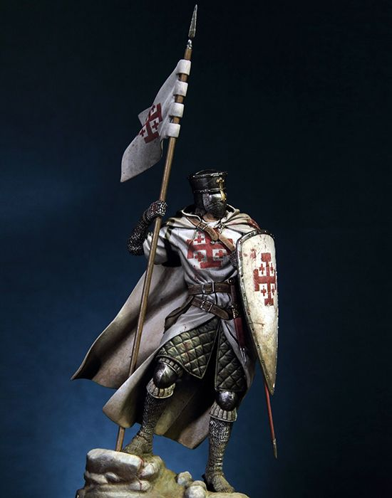 The Crusader Warrior with Jerusalem Cross Model (Unassembled/Unpainted)