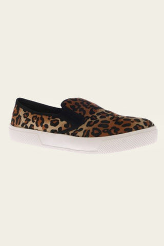 Slide on sneakers In Leopard Print or Black Colours