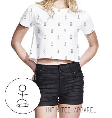 Skater crop tee - Front print