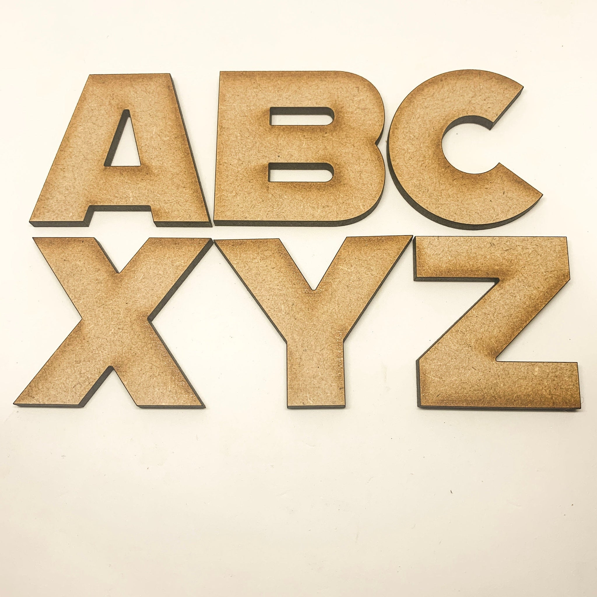 Wall Hanging Letters  Wooden Signs 2cm 20cm Wooden Letters Small And Large Georgia Bold Font Upper and Lowercase 4mm MDF