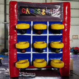 Giant Inflatable Basketball 3 in a row hire - Games2Hire