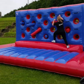 Giant 21ft Inflatable Wipeout Knockout Wall Hire - Games2Hire