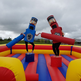 Dual Mega Gladiator Inflatable to Hire - Games2Hire