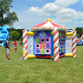 Giant Inflatable 5 In 1 Fair Gamess - Game to Hire - Games2Hire